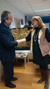 il presidente della fondazione vulci con la direttrice del museo Polixeni Adam-Veleni (1)