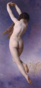 Merope che abbandona le Pleiadi, particolare, William-Adolphe Bouguereau (1884)